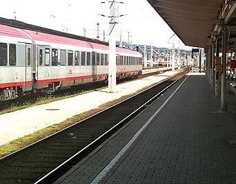 Bahnsteig in Villach