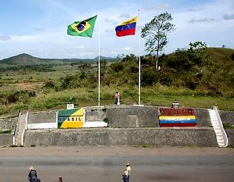 Grenze zwischen Brasilien und Venezuela