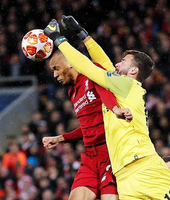 Szene aus dem Match Liverpool gegen Bayern