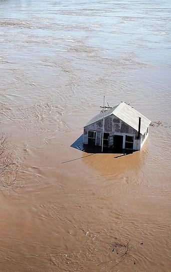 Überflutung in Atchison, Kansas