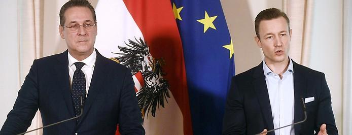 Vizekanzler Heinz-Christian Strache und Kulturminister Gernot Blümel