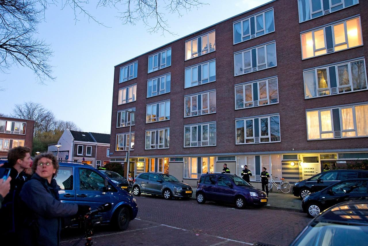 Das Gebäude, in dem der Utrecht-Attentäter verhaftet worden ist