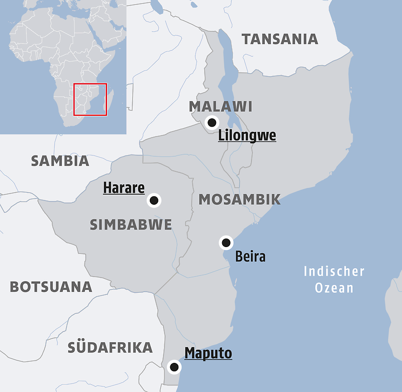 Mosambik Karte.Katastrophe Nach Der Katastrophe Helfer Warnen Vor Hungerkrise In