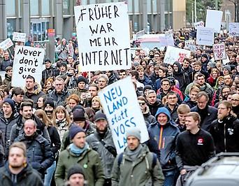 Demo gegen die EU-Urheberrechtsreform