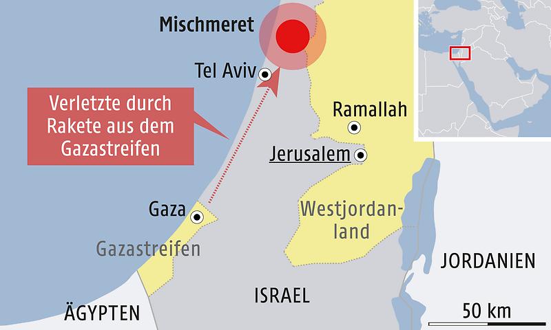 Tel Aviv Jerusalem Karte.Rakete Aus Gaza Trifft Haus Nördlich Von Tel Aviv News Orf At