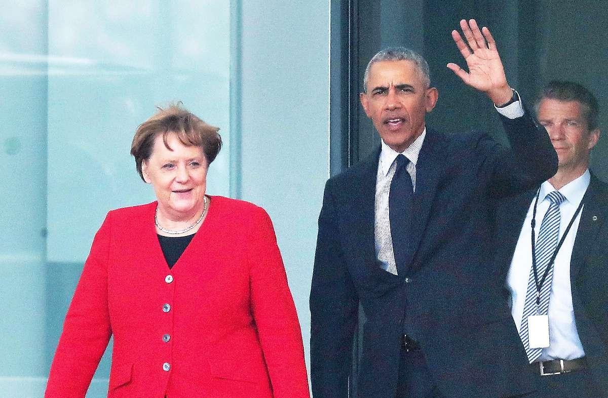 """""""Politische Freunde"""": Obama bei Merkel im Kanzleramt"""