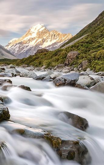 Hooker River in Neuseeland