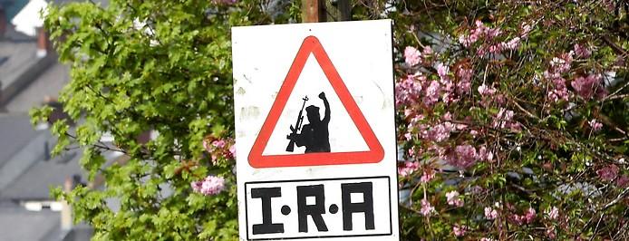 IRA-Schild in Nordirland