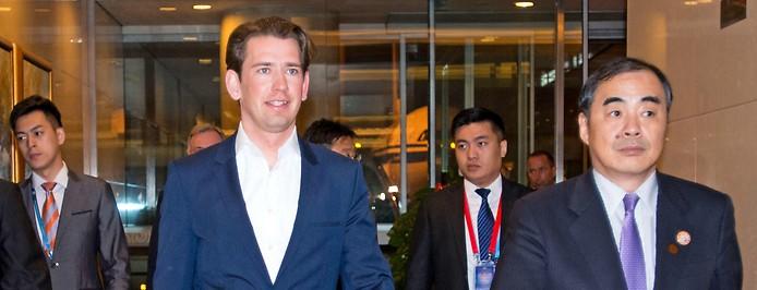 Bundeskanzler Sebastian Kurz in Peking