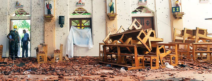 Trümmer in der Kirche
