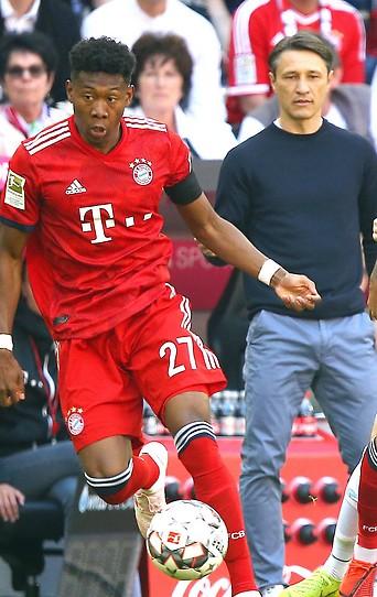 David Alaba und Trainer Niko Kovac (Bayern)