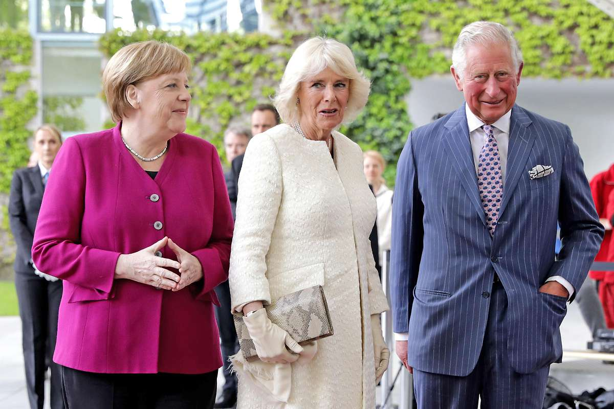 Charles und Camilla zu Gast bei Merkel in Berlin