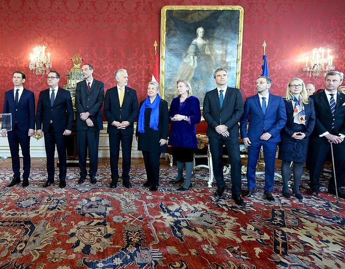 Angelobung der ÖVP-FPÖ-Bundesregierung 2017