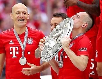 Franck Ribery und Arjen Robben (BAY)