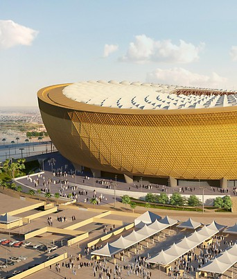 Grafik des Lusail Stadium für die Fußball-WM 2022 in Quatar
