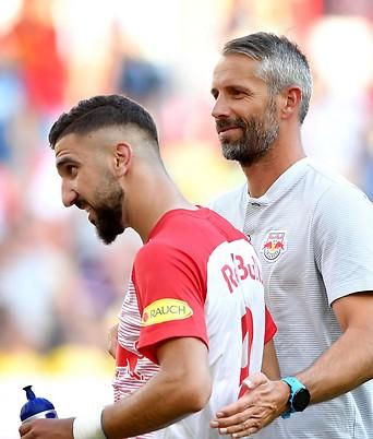 Marco Rose und Munas Dabbur (RBS)