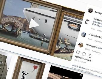 Screenshot zeigt Banksy-Instagram-Profil