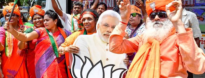 Anhänger von Narendra Modi