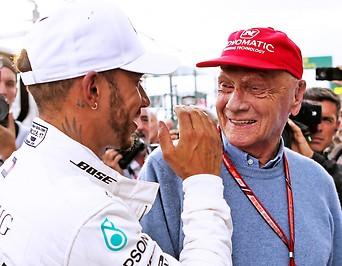 Lewis Hamilton und Niki Lauda