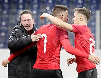 Werner Gregoritsch, Adrian Grbic und Christoph Baumgartner (AUT)