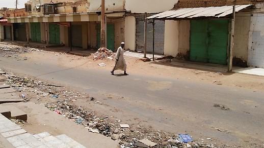 Geschlossene Heschäfte in Khartoum
