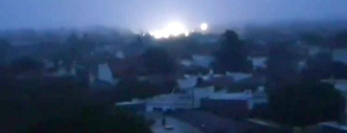 Blick auf Buenos Aires während dem Stromausfall