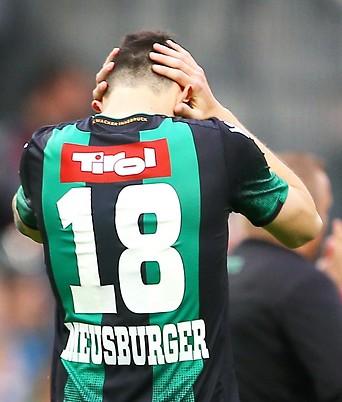 Enttäuschter Stefan Meusburger (Wacker Innsbruck)