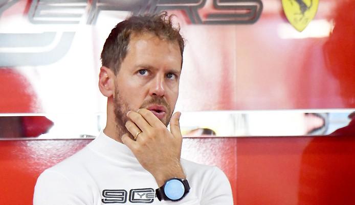 Ferrari-Rennfahrer Sebastian Vettel
