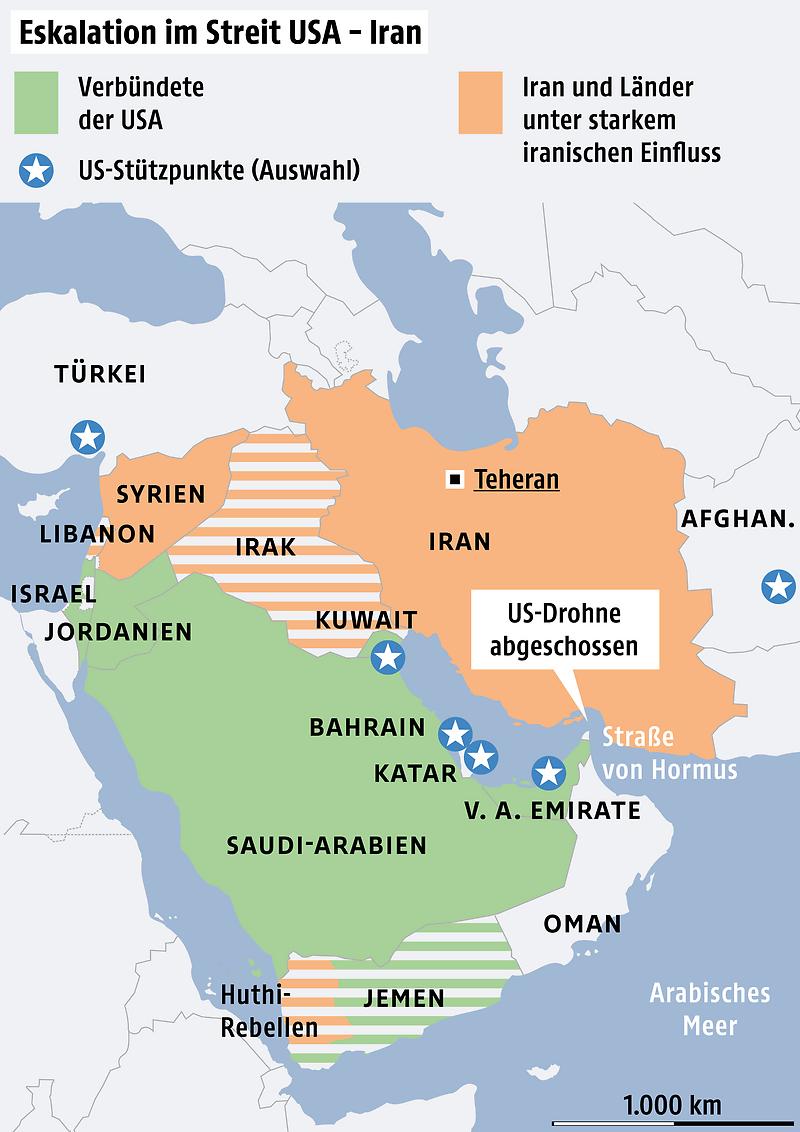 Karte Iran Nachbarlander.Von Kein Krieg Bis Vernichtung Kraftemessen Zwischen