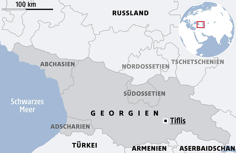 Georgien Karte Regionen.Massenproteste In Georgien Aufstand Gegen Russischen Einfluss