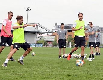 Spieler beim Training