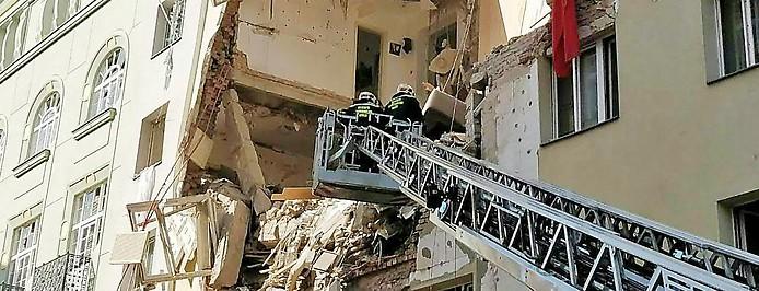 Eingestürztes Haus in Wien