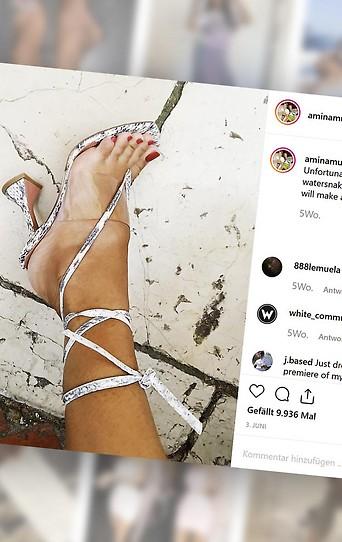 Instagramseite von Amina Muaddi