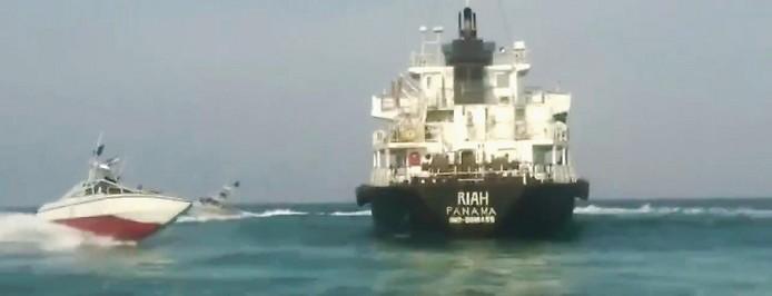 Undatiertes Foto des unter der Flagge von Panama fahrenden Tankers MT Riah
