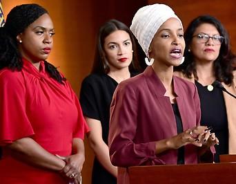 PK der US-Demokratinnen Ocasio-Cortez, Omar, Pressley und Tlaib
