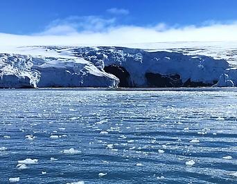 Gletscher auf der Antarktis