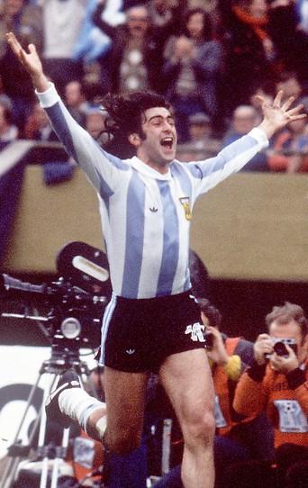 Jubel von Mario Kempes bei der WM 1978