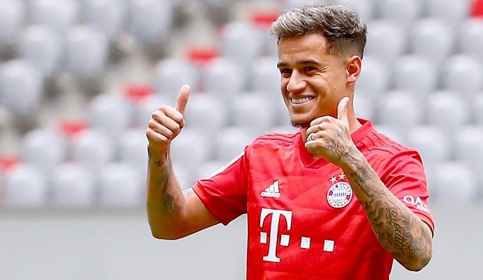 Philippe Coutinho bei der Präsentation als Bayern-Spieler