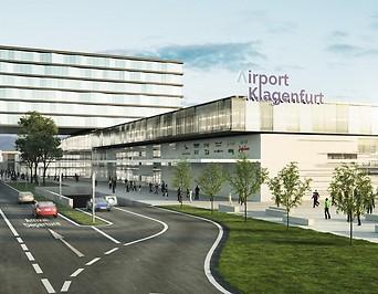 Rendering des Flughafen Klagenfurt