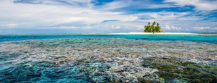 Eine kleine Insel des Inselstaats Tuvalu
