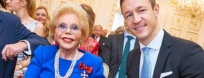 Heidi Horten und Gernot Blümel