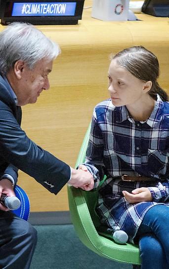 Antonio Guterres und Greta Thunberg