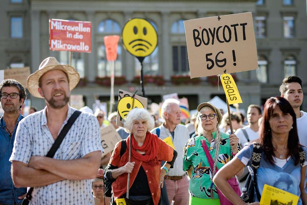 Bern: Tausende bei Demo gegen Mobilfunkstandard 5G