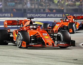 Sebastian Vettel und Charles Leclerc (beide Ferrari)