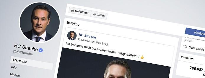 Facebook-Seite von HC Strache