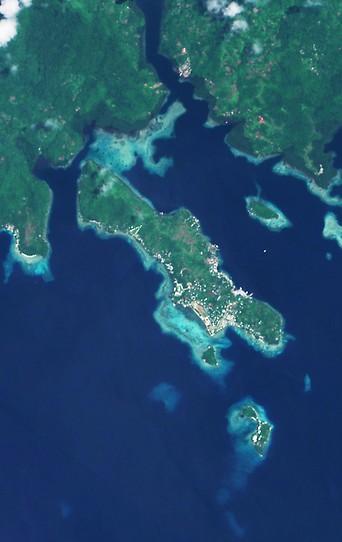 Satellitenaufnahme von Tulagi