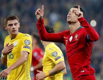 Jubel von Portugals Cristiano Ronaldo