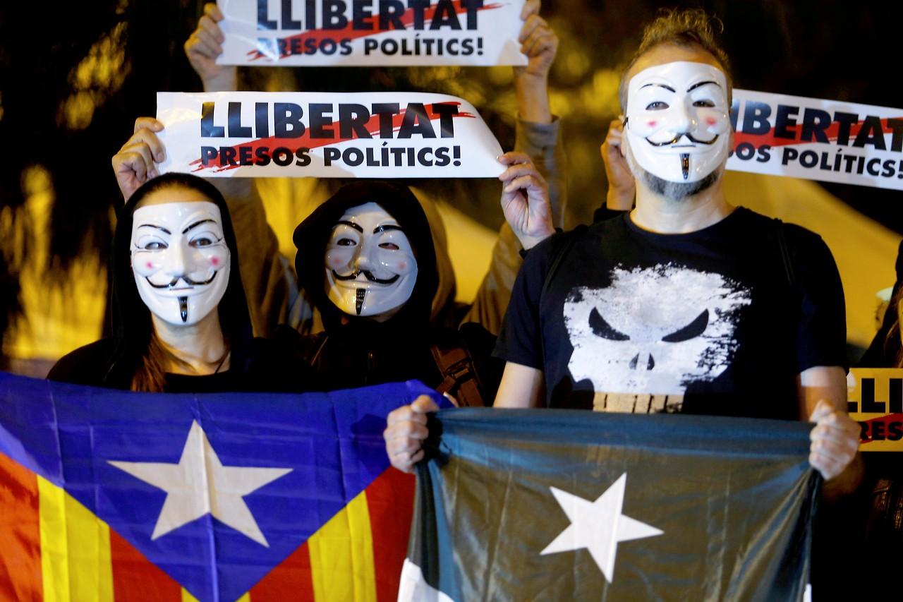 Demonstration der Separatisten in Spanien