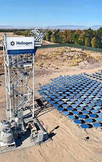Solaranlage von Heliogen in Lancaster, Kalifornien