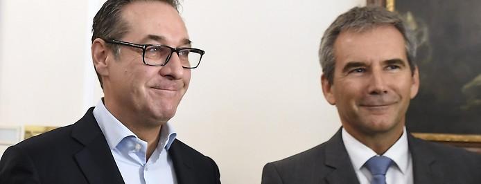 Heinz-Christian Strache und Hartwig Löger